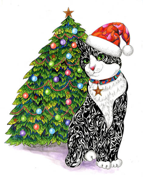 Drawing - Naughty Or Nice by Sherry Shipley