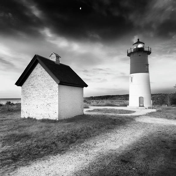 Wall Art - Photograph - Nauset Light - Black And White Lighthouse by Dapixara Art