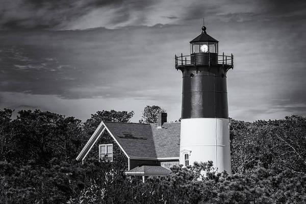 Photograph - Nauset Lighthouse Bw by Joan Carroll