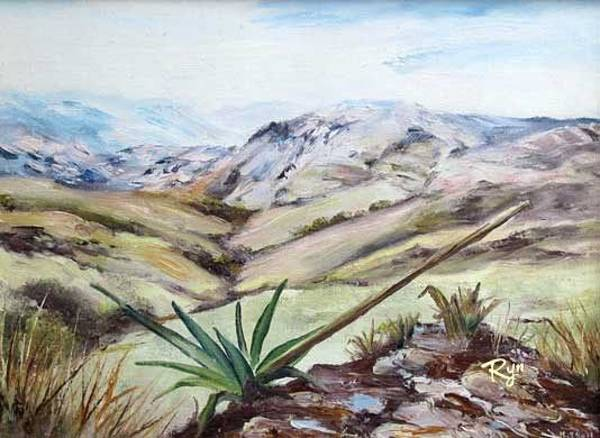 Painting - Nausori Highlands With Agave by Ryn Shell