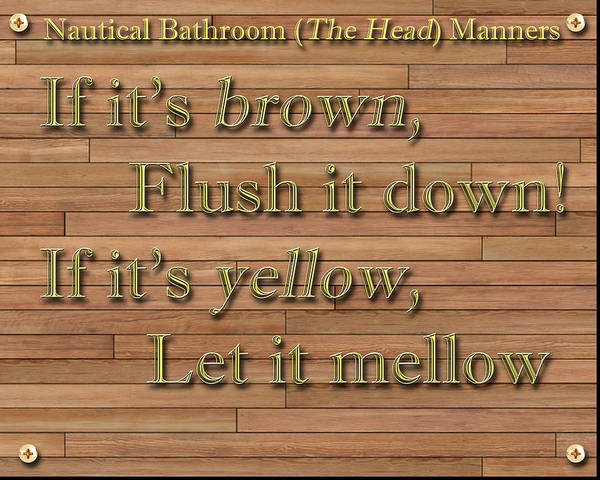 Wall Art - Painting - Nautical Bathroom Humor by Jack Pumphrey