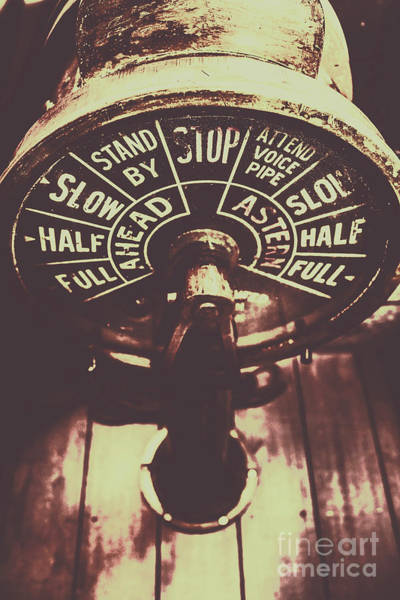 Steam Engine Photograph - Nautical Engine Room Telegraph by Jorgo Photography - Wall Art Gallery