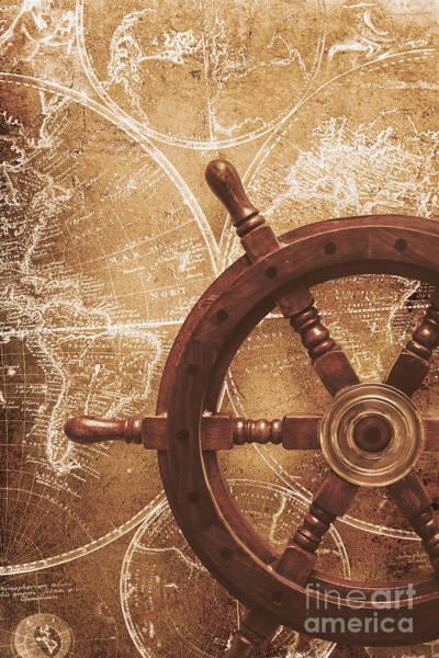 Voyage Digital Art - Nautical Exploration  by Jorgo Photography - Wall Art Gallery