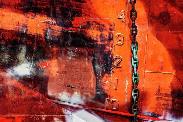 Rusty Chain Wall Art - Mixed Media - Nautical Industrial Art Again by Carol Leigh