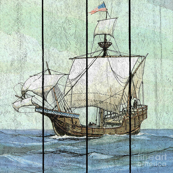 Wall Art - Painting - Nautical Ships-a by Jean Plout