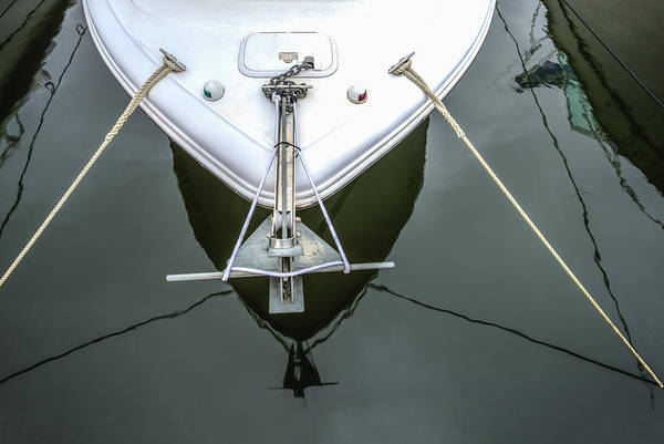 Photograph - Nautical Tension And Reflections by Gary Slawsky