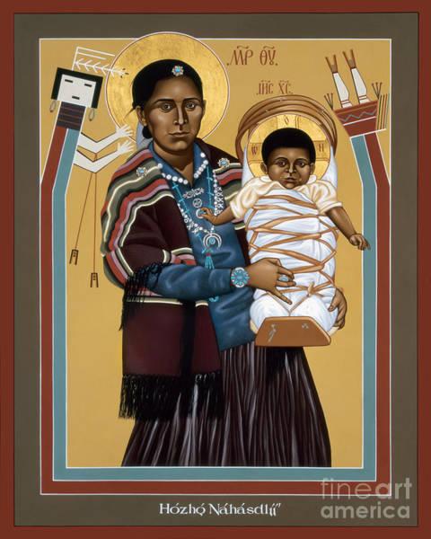Painting - Navaho Madonna - Rlnvm by Br Robert Lentz OFM
