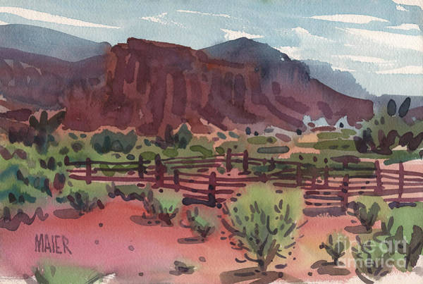 Corral Wall Art - Painting - Navajo Corral by Donald Maier