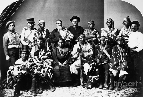 Delegation Photograph - Navajo Delegation, C1874 by Granger