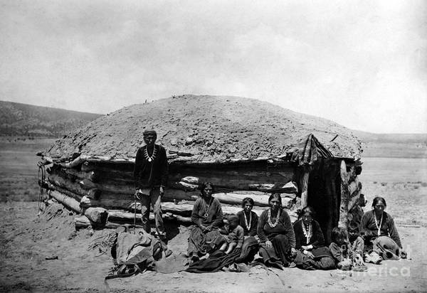 Hogan Photograph - Navajo Dwelling, C1906 by Granger