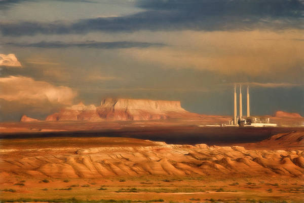 Wall Art - Photograph - Navajo Generating Station by Lana Trussell