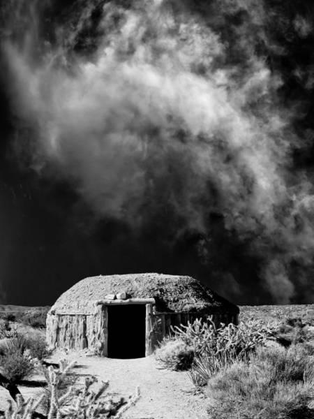 Hogan Photograph - Navajo Hogan by Dominic Piperata