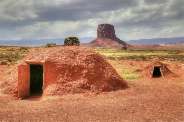 Mud House Photograph - Navajo Hogans by Donna Kennedy