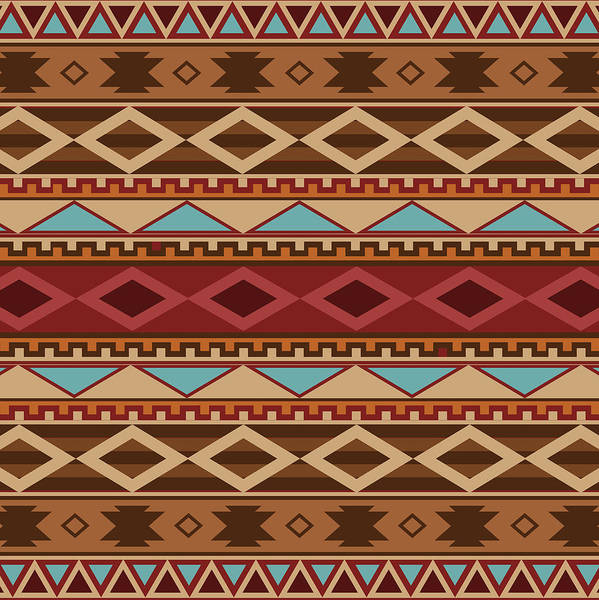 American Southwest Digital Art - Navajo Native American Pattern by Kenny Wright