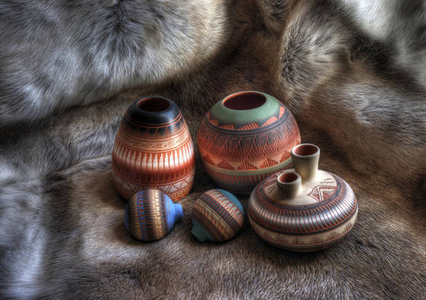 Clay Pot Photograph - Navajo Pottery by Merja Waters