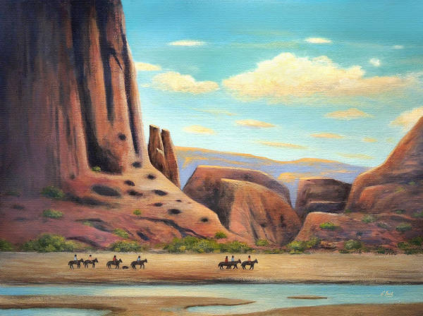 Spectacular Painting - Navajo Riders by Gordon Beck