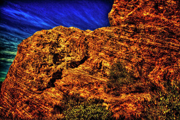 Photograph - Navajo Sandstone And Cirrus Clouds by Roger Passman