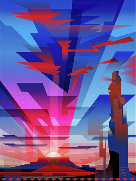 Corner Wall Art - Digital Art - Navajo Sunset  by Garth Glazier
