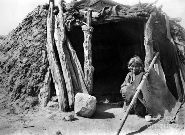 Hogan Photograph - Navajo Woman, C1901 by Granger