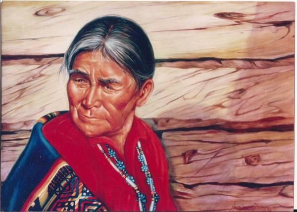 Painting - Navajo Woman by Naomi Dixon