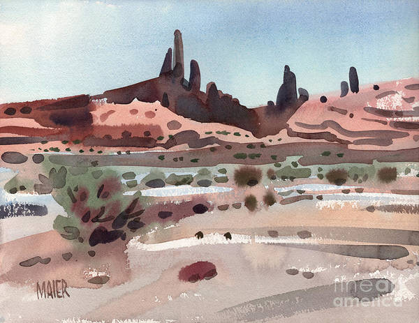 Butte Painting - Navajoland by Donald Maier