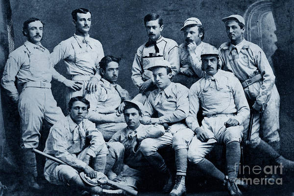 Photograph - Naval Academy Base Ball Team 1870 by California Views Archives Mr Pat Hathaway Archives