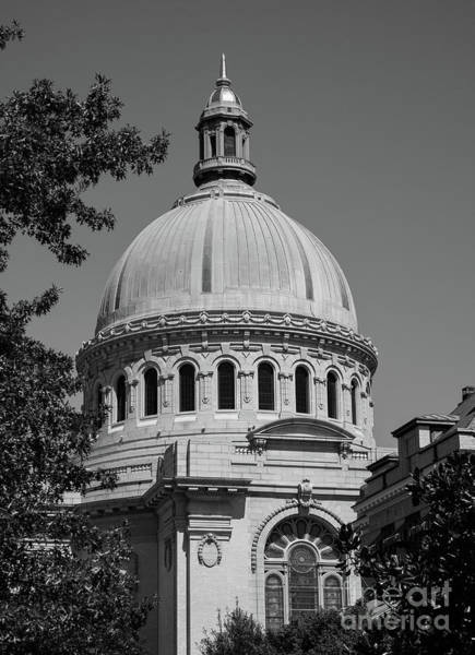 Wall Art - Photograph - Naval Academy Chapel - Black And White by William Kuta