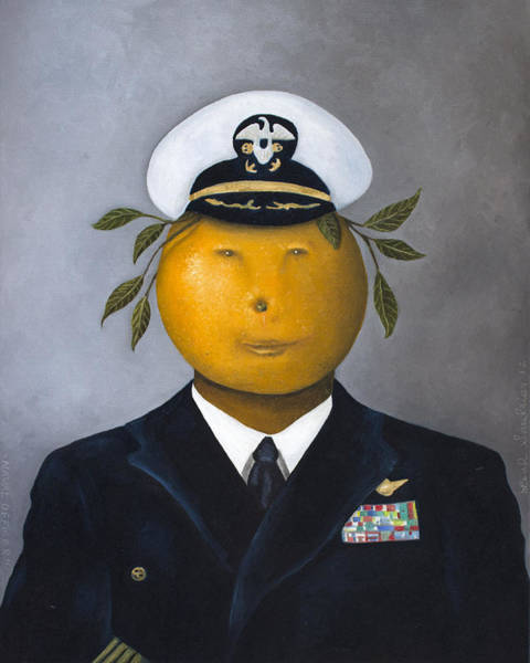 The Father Wall Art - Painting - Naval Officer by Leah Saulnier The Painting Maniac