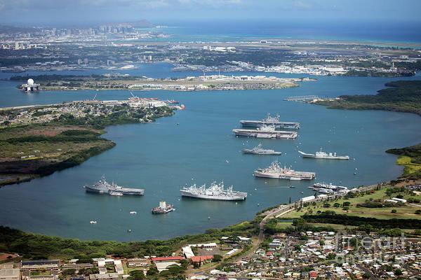 Uss Bowfin Photograph - Naval Station Pearl Harbor Near Honolulu by Bill Cobb