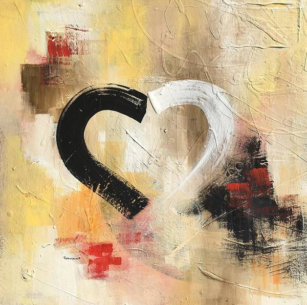 Wall Art - Painting - Navigating Love by Germaine Fine Art