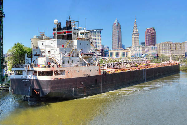 Photograph - Navigating The Cuyahoga by Brent Durken
