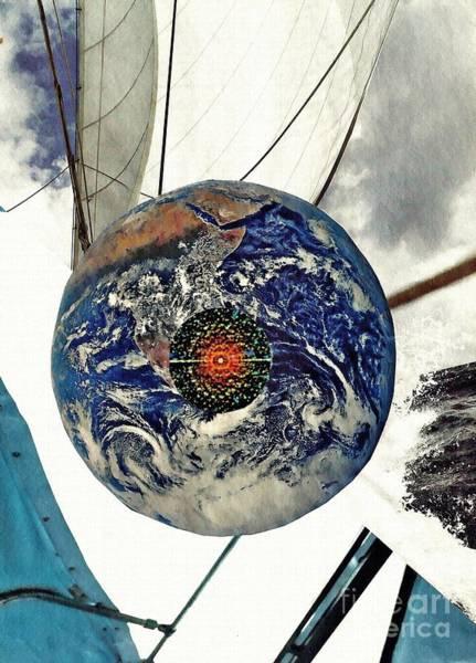 Sailboat Mixed Media - Navigation by Sarah Loft
