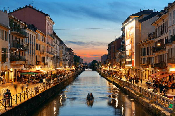 Photograph - Naviglio Grande Canal by Songquan Deng