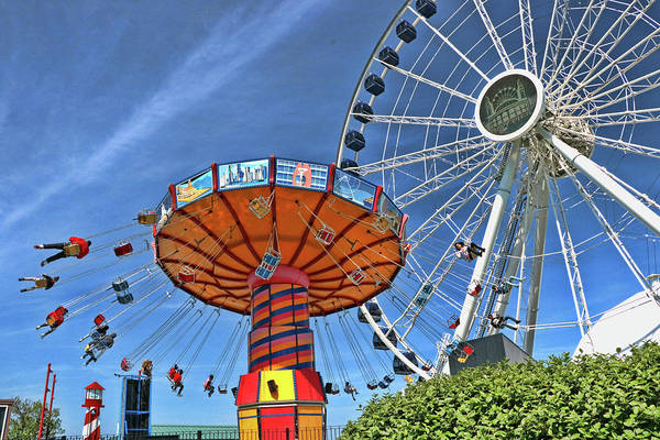 Photograph - Navy Pier Amusement Rides - Chicago by Allen Beatty