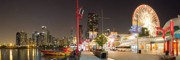 Chicago Skyline Photograph - Navy Pier At Night by Twenty Two North Photography