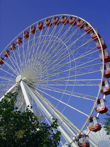 Photograph - Navy Pier Ferris Wheel 2 by Angelina Tamez
