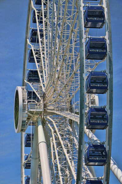 Photograph - Navy Pier Ferris Wheel - Chicago by Allen Beatty