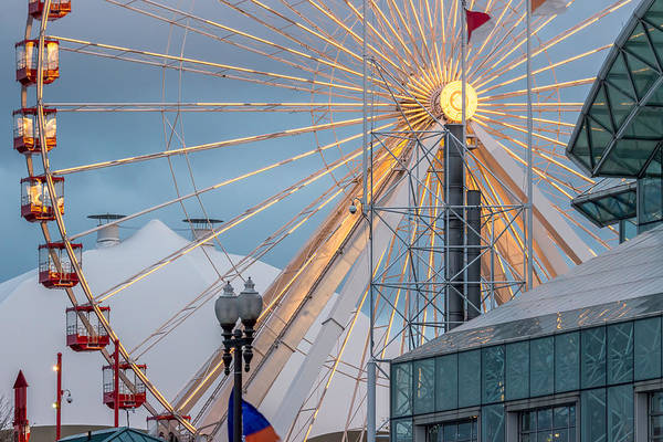 Photograph - Navy Pier Ferris Wheel In Chicago by Pete Hendley