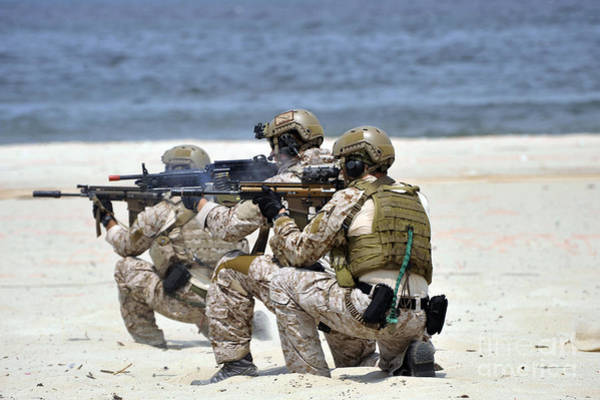 Navy Seal Photograph - Navy Seals Participate by Stocktrek Images