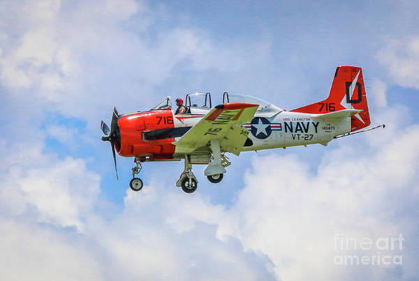 Photograph - Navy Trainer #2 by Tom Claud