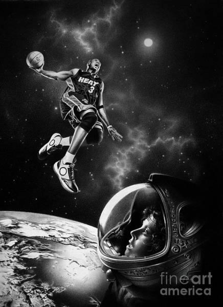 Cosmos Drawing - Nba Live  by Miro Gradinscak
