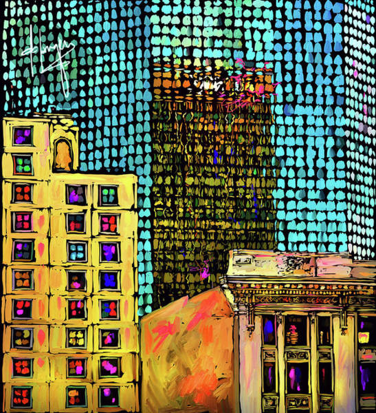 Painting - Nbc Building Reflection, San Diego by DC Langer