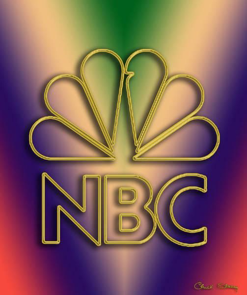 Digital Art - N B C Logo by Chuck Staley