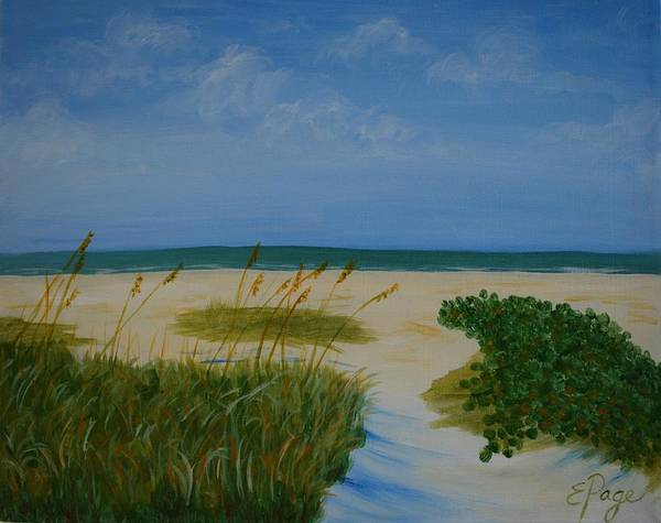Painting - Nc Beach by Emily Page