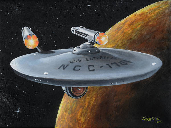 Painting - Ncc-1701 by Kim Lockman