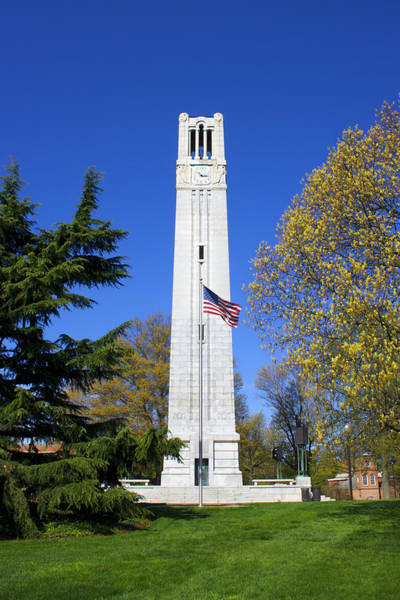 Nc State Wall Art - Photograph - N. C. State Memorial Bell Tower by Orange Cat Art