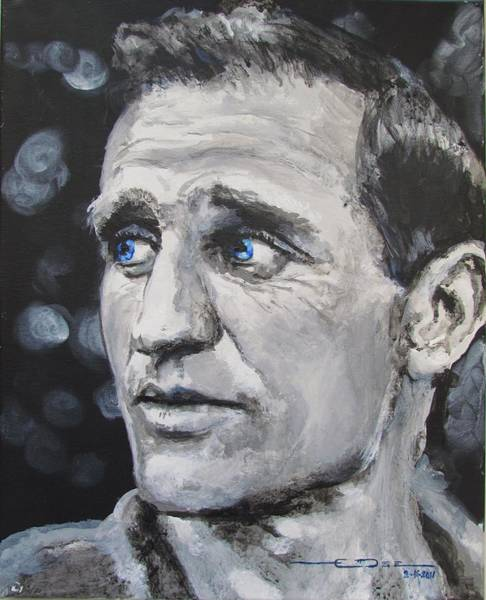 Painting - Neal Cassady - On The Road by Eric Dee