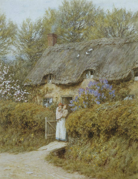 Freshwater Painting - Near Freshwater Isle Of Wight by Helen Allingham