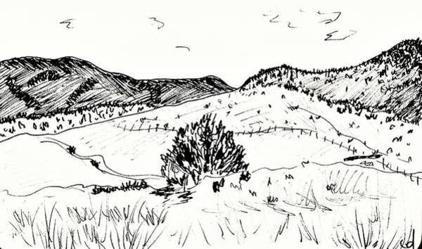 Drawing - Near Guadix by Chani Demuijlder