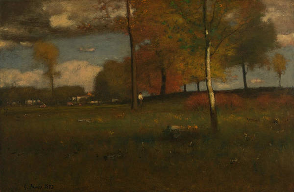 Painting - Near The Village, October by George Inness